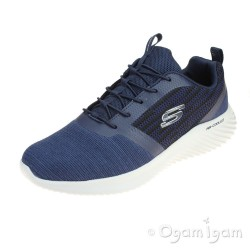 Skechers Bounder Mens Navy Trainer