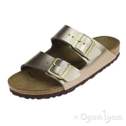 Birkenstock Arizona Metallic Taupe Womens Sandal