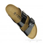 Birkenstock Arizona Patent Womens Black Sandal