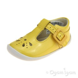 Clarks Roamer Star Infant Girls Yellow Shoe
