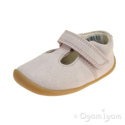 Clarks Roamer Go Infant Girls Pink Suede Shoe