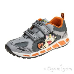 Geox Shuttle Boy Boys Grey-Orange Pokemon Trainer