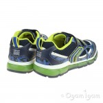 Geox Android Boys Navy-Lime Trainer