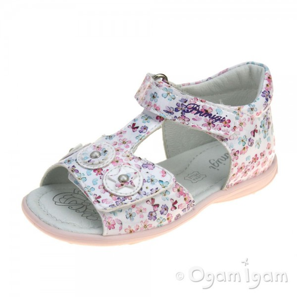 Primigi PBT 34071 Girls White Multi Sandal
