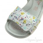 Primigi PBT 34070 Girls White Multi Sandal