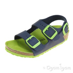 Birkenstock Milano Kids Boys Blue Green Sandal