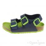 Birkenstock Milano Kids Boys Blue Green Sandal