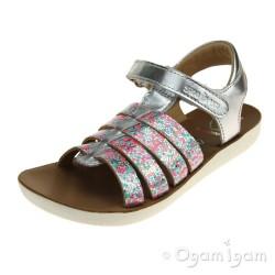 Shoo Pom Goa Spart Girls Multi Silver Sandal