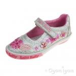 Lelli Kelly Glitter Daisy Girls Argento Silver Glitter Shoe