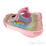 Lelli Kelly Rainbow Sparkle Girls Multi Glitter Mary Jane Shoe