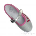Lelli Kelly New Sprint Girls Argento Silver Shoe