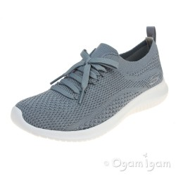 Skechers Ultra Flex Statements Womens Slate Grey Trainer