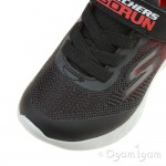 Skechers GoRun 600 Farrox Boys Black-Red Trainer