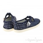 Start-rite Jitterbug Girls Navy Canvas Shoe