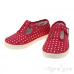 Start-rite Jitterbug Girls Pink Polka Dot Canvas Shoe