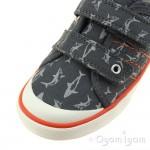 Start-rite Wave Boys Grey Canvas Shoe