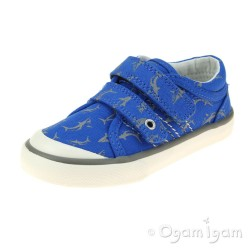 Start-rite Wave Boys Blue Canvas Shoe