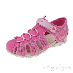 Geox Roxanne Girls Fuchsia Closed toe Sandal