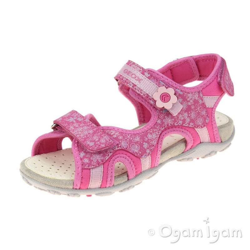 02492f433c Geox Roxanne Girls Fuchsia Sandal | Ogam Igam