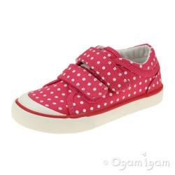Start-rite Bounce Girls Pink Polka Dot Canvas Shoe