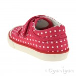 Start-rite Bounce Girls Pink Polka Dot Canvas Shoe