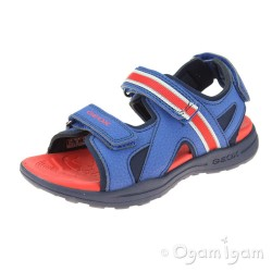 Geox Gleeful Boys Royal-Red Sandal