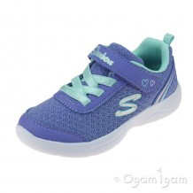 Skechers SkechStepz Sparkle Girls Lavendar-Aqua Trainer