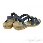 Rieker 6586914 Womens Baltik Blue Sandal