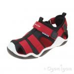 Geox Wader Boys Black Red Waterfriendly Shoe