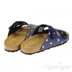 Joules Penley Dark Blue Spot Womens Blue Sandal