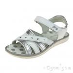 Primigi PAL 33900 Girls Bianco Argento White Silver Sandal