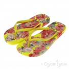 Joules Yellow Floral FlipFlop Womens Yellow Sandal