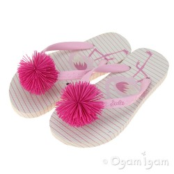 Joules Pink Flamingo FlipFlop Girls Pink Sandal