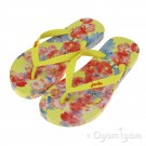Joules Yellow Floral FlipFlop Girls Yellow Sandal