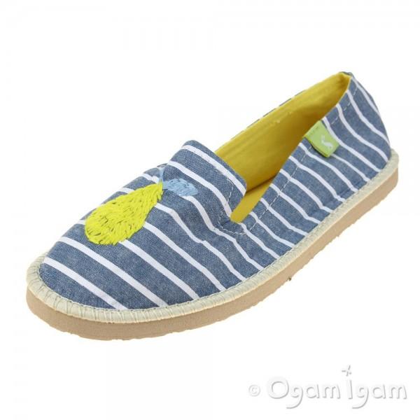 Joules Flipadrille ChambrayStripe Womens Chambray Stripe Shoe