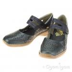 Rieker 413J914 Womens Ocean Blue Shoe