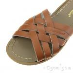 Salt-Water Retro Slide Womens Tan Waterfriendly Sandal