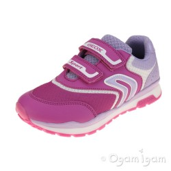 Geox Pavel Girls Fuchsia-Lilac Trainer