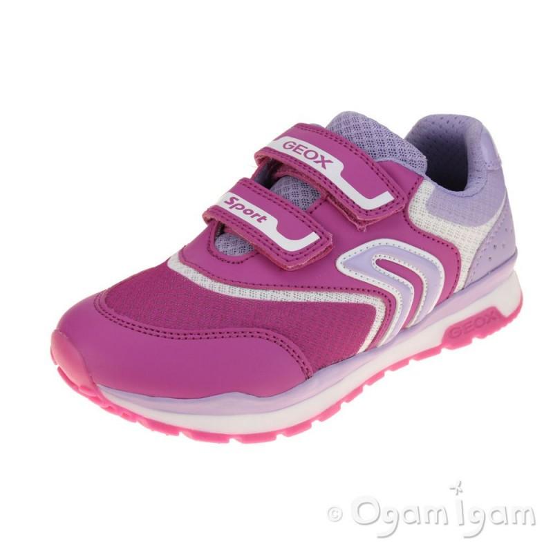 3831de2004 Geox Pavel Girls Fuchsia-Lilac Trainer   Ogam Igam