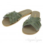 Salt-Water Retro Slide Womens Olive Waterfriendly Sandal