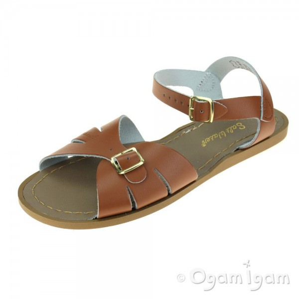 Salt-Water Classic Womens Tan Waterfriendly Sandal