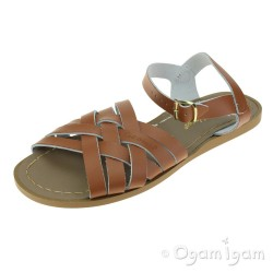 Salt-Water Retro Womens Tan Waterfriendly Sandal