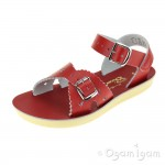 Salt-Water Sweetheart Girls Red Waterfriendly Sandal