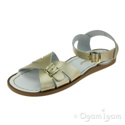 Salt-Water Classic Womens Gold Waterfriendly Sandal