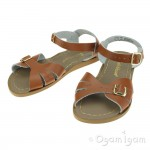 Salt-Water Classic Girls Tan Waterfriendly Sandal