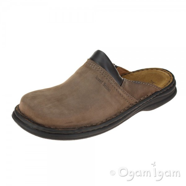 Josef Seibel Max Mens Brasil Leather Mule Slipper