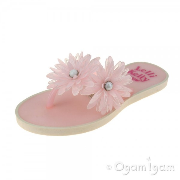 Lelli Kelly Kendra Girls Rosa Pink Flower FlipFlop