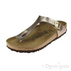 Birkenstock Gizeh Womens Metallic Taupe Sandal