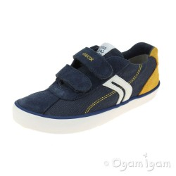 Geox Kilwi Boys Navy-Yellow Shoe