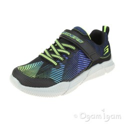 Skechers Intersectors Protofuel Boys Black-Lime Trainer